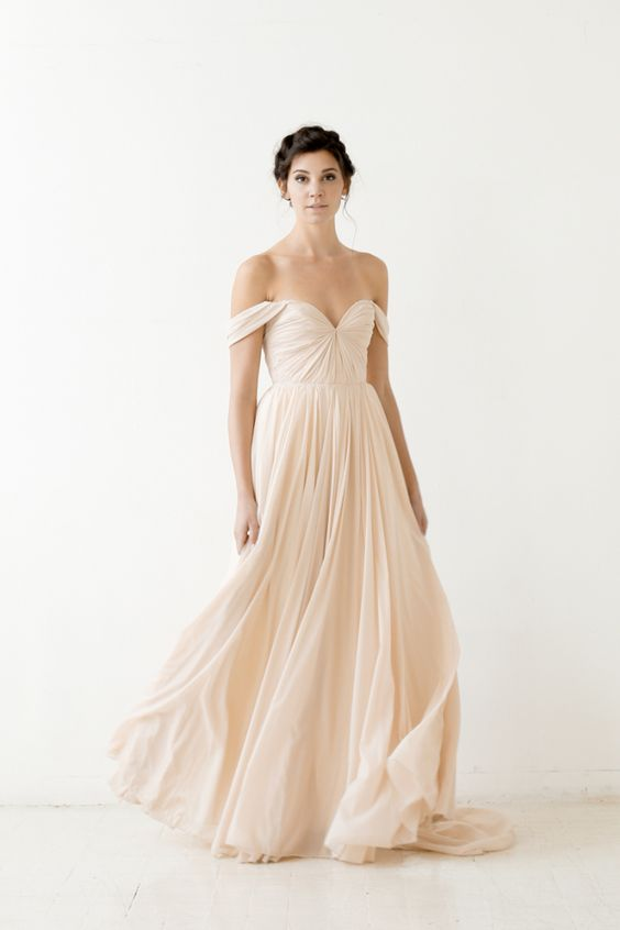 Lafayette Gown Blush Sarah Seven Wedding Dresses 2015