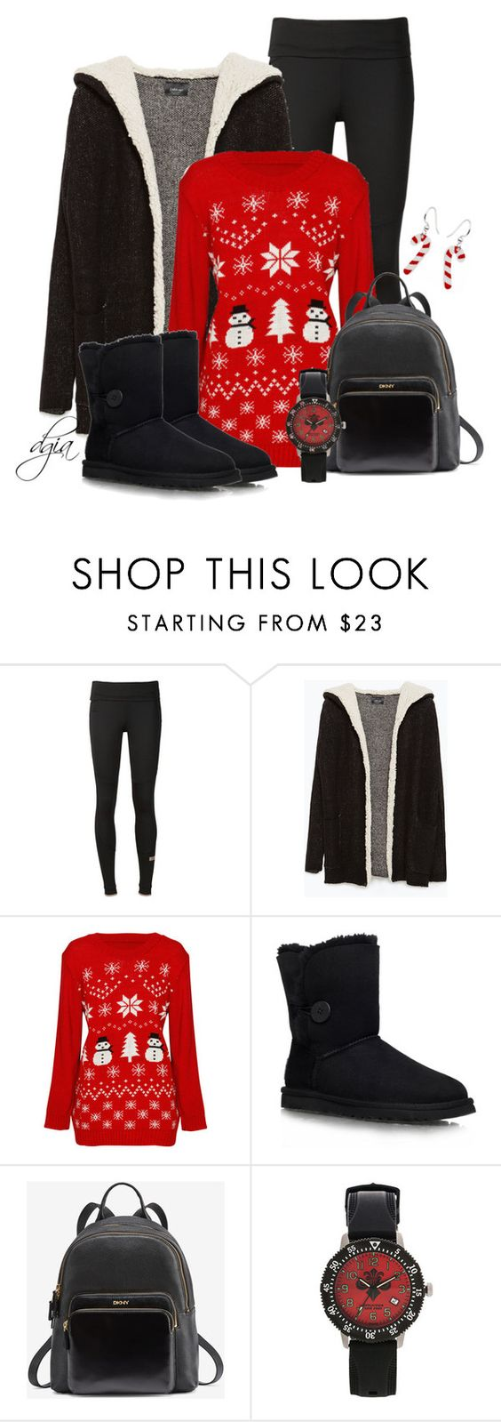 """Zara Short Coat"" by dgia ❤ liked on Polyvore featuring adidas, Zara, UGG Australia and Affliction"