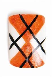 Orange Argyle NAILS