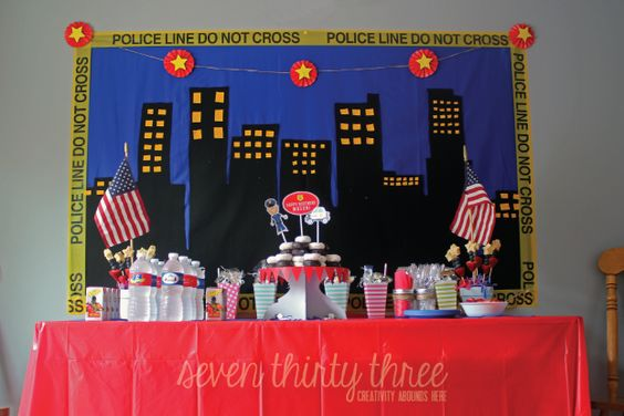 seven thirty three - - - a creative blog: Police Themed Birthday Party @Jess Liu Kjelshus this blog had some super cute ideas: