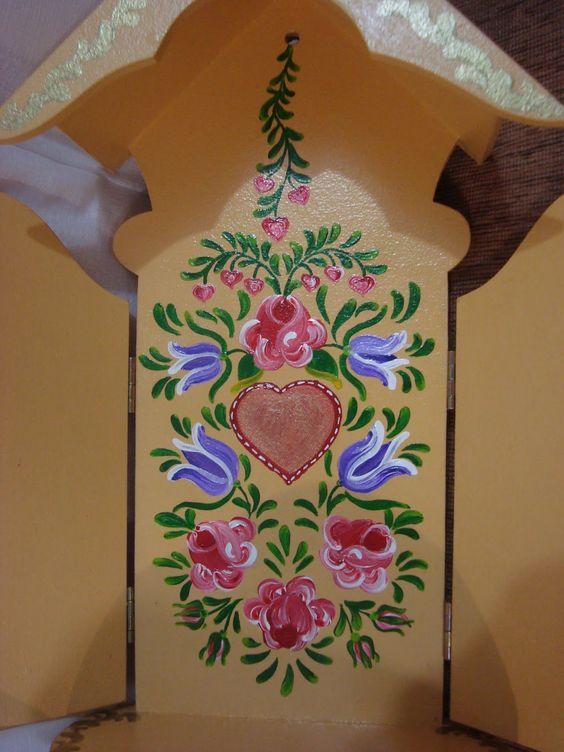 Pintura Bauernmalerei Mundo da Arte Atelier - Pesquisa Google