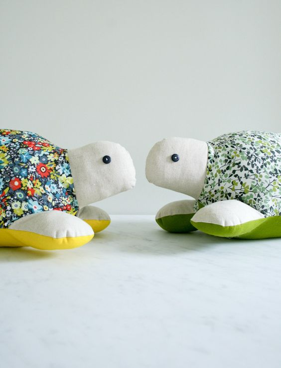 Sewn plush turtle — a perfect gift for the little one in your life.