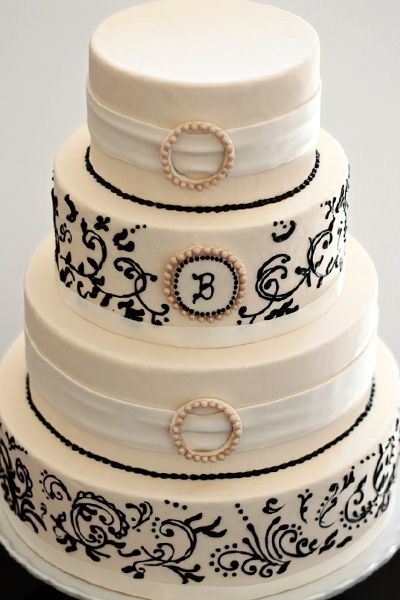 I LOVE the scrollwork on this cake. Not a fan of the 1st and 3rd layers though.
