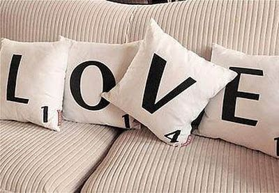 scrabble love pillows