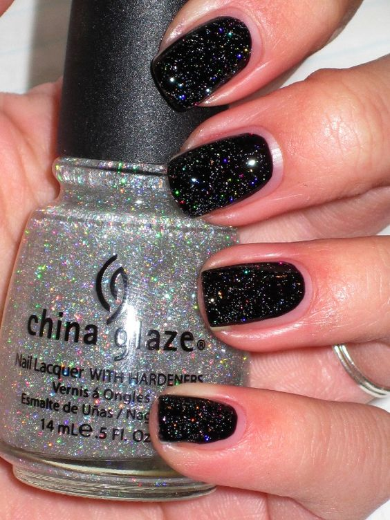 China Glaze Fairy Dust.  My all time favorite glitteer. Looks fabulous on top of all colors