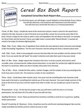 How to Make a Cereal Box Book Report