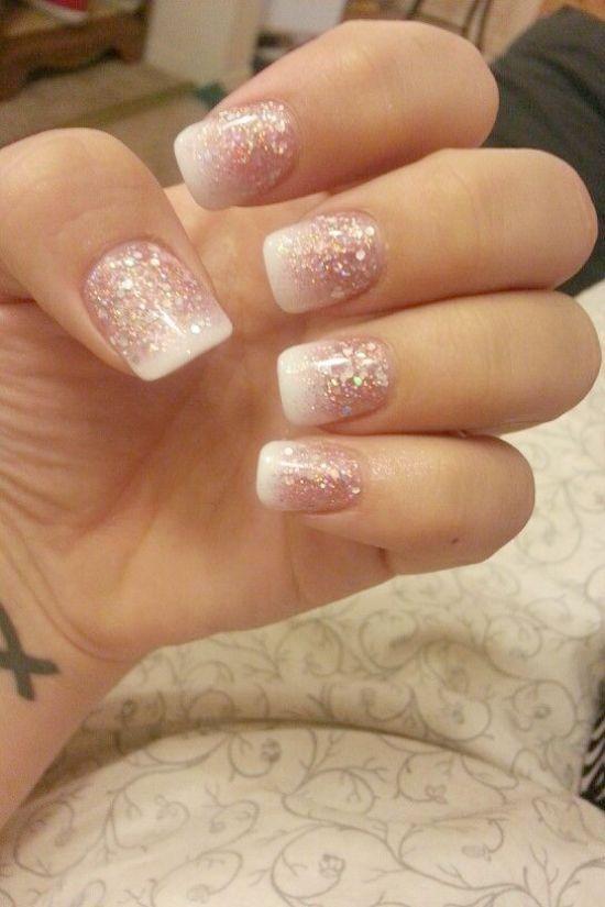 20 Ideas Ebook Fancy Nail Art Glitter French Manicure Fancy Nails