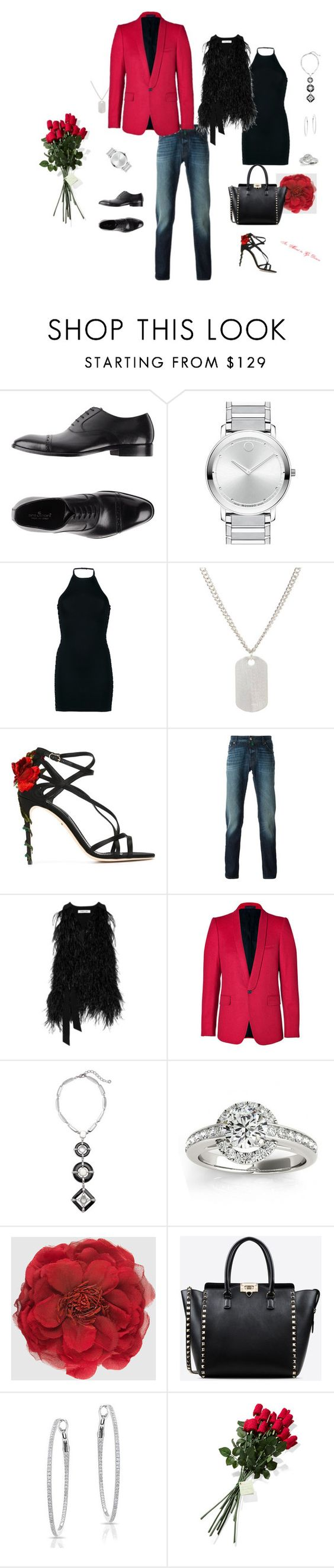 Here They Come ! by nicolapolis on Polyvore featuring Balmain, Elizabeth and James, Hanky Panky, Dolce&Gabbana, Valentino, Gucci, Chico's, Allurez, Jacob Cohёn and Ciro Lendini