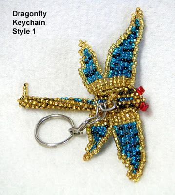 Beaded Dragonfly Keychains from Guatemala