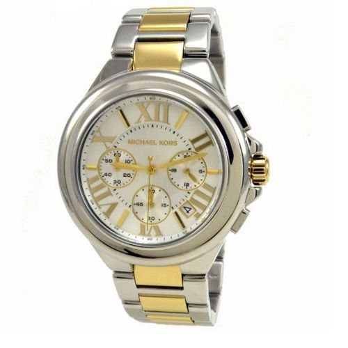 Michael Kors Watches Camille (Two Tone Gold)