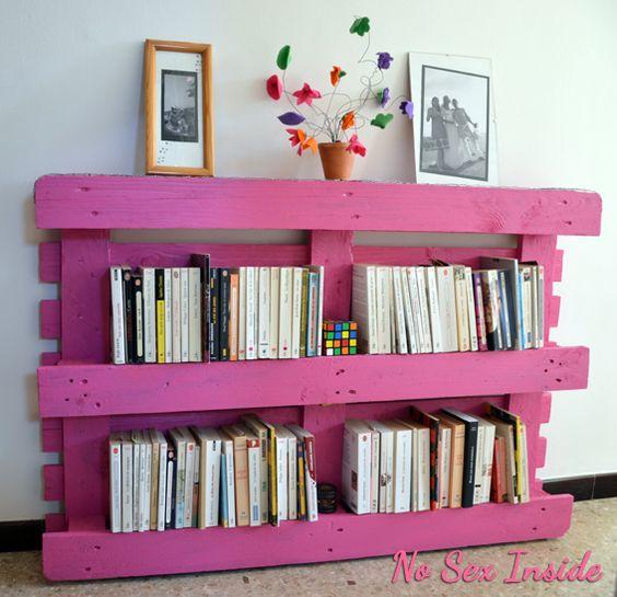 biblioth que partir d 39 une palette de r cup et de grillage poules mes bricolages. Black Bedroom Furniture Sets. Home Design Ideas