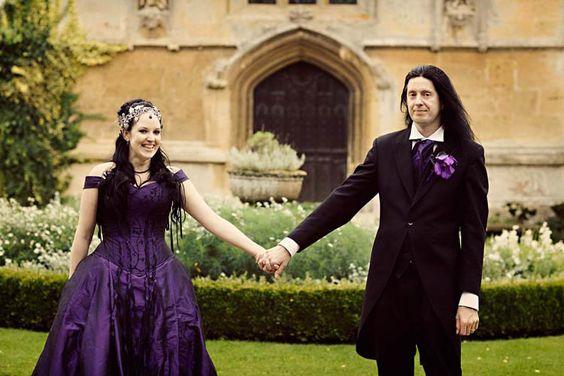 Victor & Tori's Dramatic Deep Purple Wedding