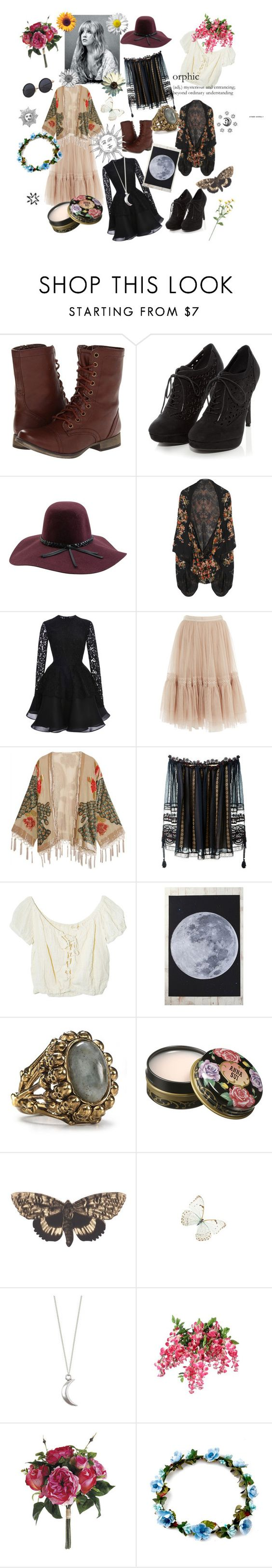 """""""stevie"""" by xcherrybombxx ❤ liked on Polyvore featuring Skechers, Brixton, Alexander McQueen, Cushnie Et Ochs, Needle & Thread, Kite and Butterfly, Chloé, Jens Pirate Booty, Urban Outfitters and House of Harlow 1960"""