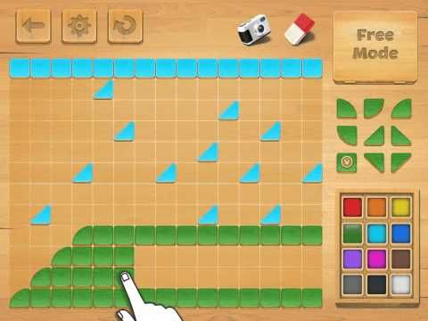 Arsidian LLC decided to develop one more mosaic format and offered the young iPad users an interactive mosaic. Little changed in the electronic format: it is still an optimal instrument to create simple pictures from geometrical shapes.