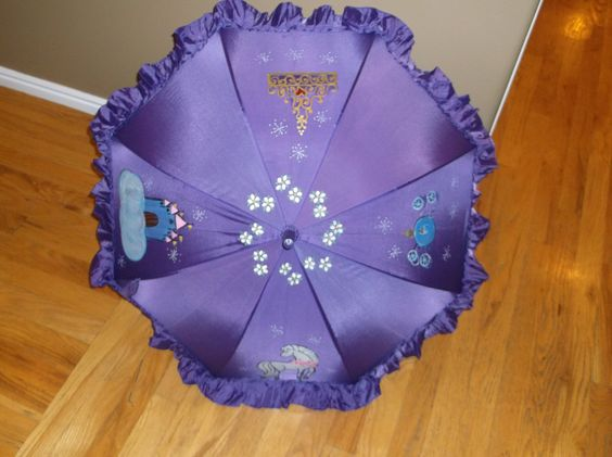 Painted to order and personalize Princess parasol by LoRensRainorShine on Etsy