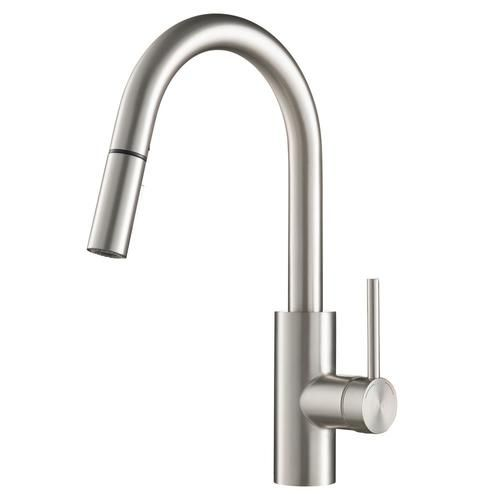 Kraus Quick Install Kitchen Faucet Stainless Steel 1 Handle Deck