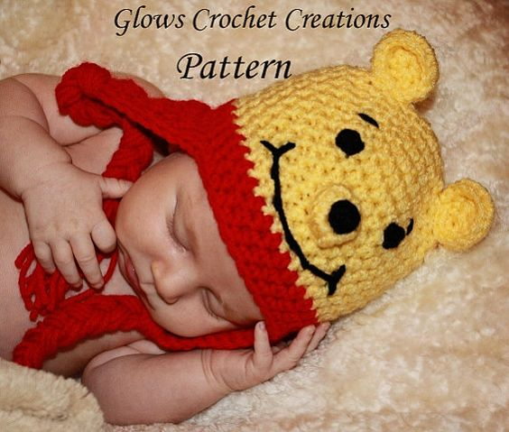 Crochet Pooh Bear Hat Pattern : Awesome, Will have and Dr. who on Pinterest