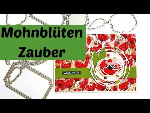 Mohnbluten Mohnblumen Von Stampin Up Stanzformen Bezaubernde Etiketten Youtube In 2020 Mohn Mohnblume Stampin