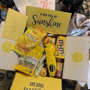 Box of Sunshine Care Package Sticker Kit