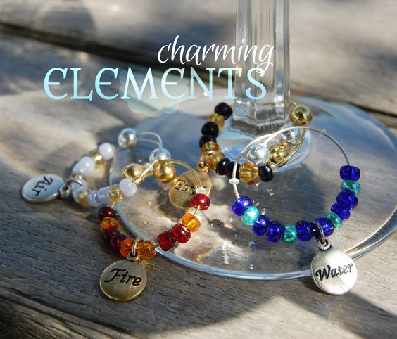 """Charming Elements"" Glass Charms"