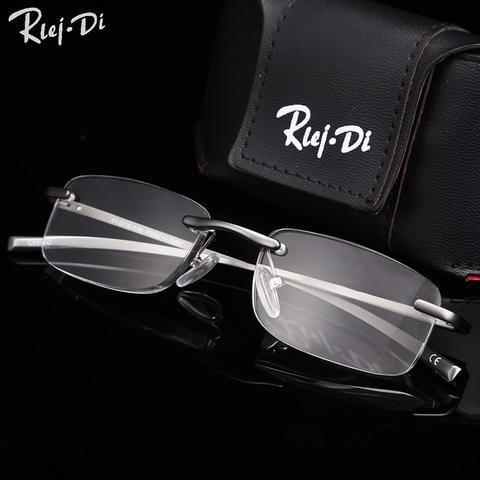 fcd347c7cc Fashion Magnesium Frame Reading Glasses Men Rimless Reading Glasses  Presbyopic Eyeglasses Gafas De Lectura 1.00-3.50 Diopter