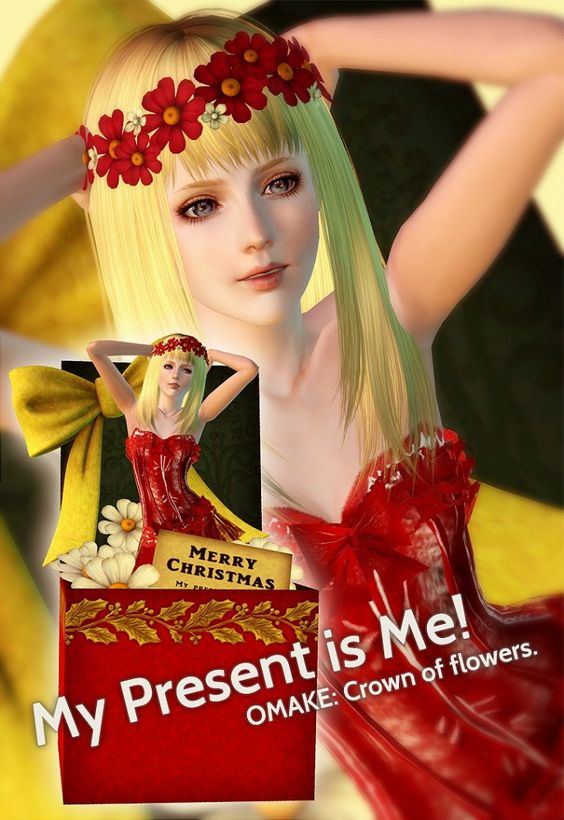 Crown of flowers by Mia - Sims 3 Downloads CC Caboodle