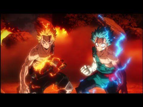 Deku Bakugo Vs Nine Hero Rising Movie Youtube Manga Vs Anime My Hero Academia Episodes Hero Wallpaper