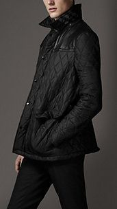 Leather Panel Quilted Jacket | Burberry