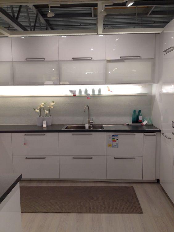 IKEA Ringhult kitchen Apartment Pinterest Kitchens, House - kchen weiss landhausstil modern