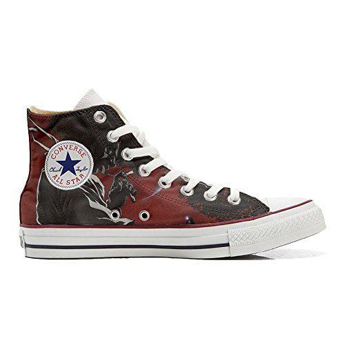 Scarpe Converse All Star personalizzate (Prodotto Artigianale) Demon - TG45 - http://on-line-kaufen.de/make-your-shoes/45-eu-converse-all-star-personalisierte-schuhe-90