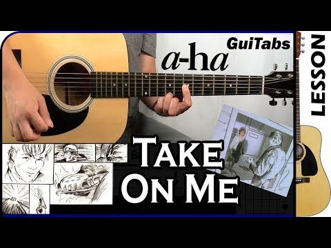 How To Play Take On Me A Ha Guitar Tutorial Youtube