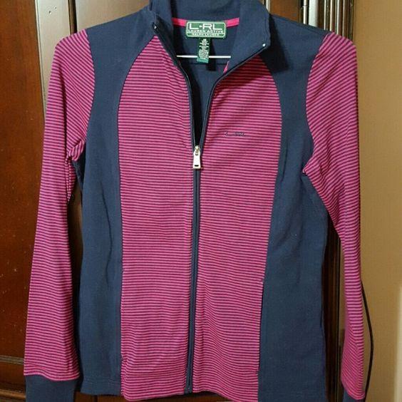 Ralph Lauren jacket Pink and navy light jacket.  Very stylish. Never worn. Ralph Lauren Jackets & Coats