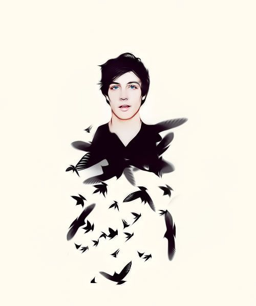 """Will Herondale. (The Infernal Devices) The face of a bad angel and eyes like the night sky in Hell. "" by Tumblr user castile"