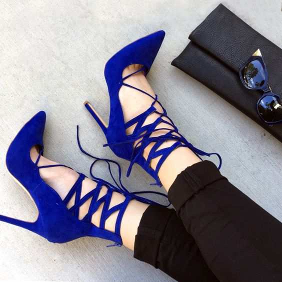 *Heel* talk though... These lace-up beauties are fire!:
