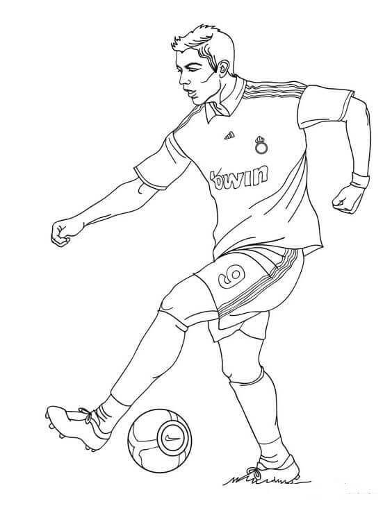 Cristiano Ronaldo Fifa World Cup Coloring Page Coloring Pages Football Coloring Pages Sports Coloring Pages