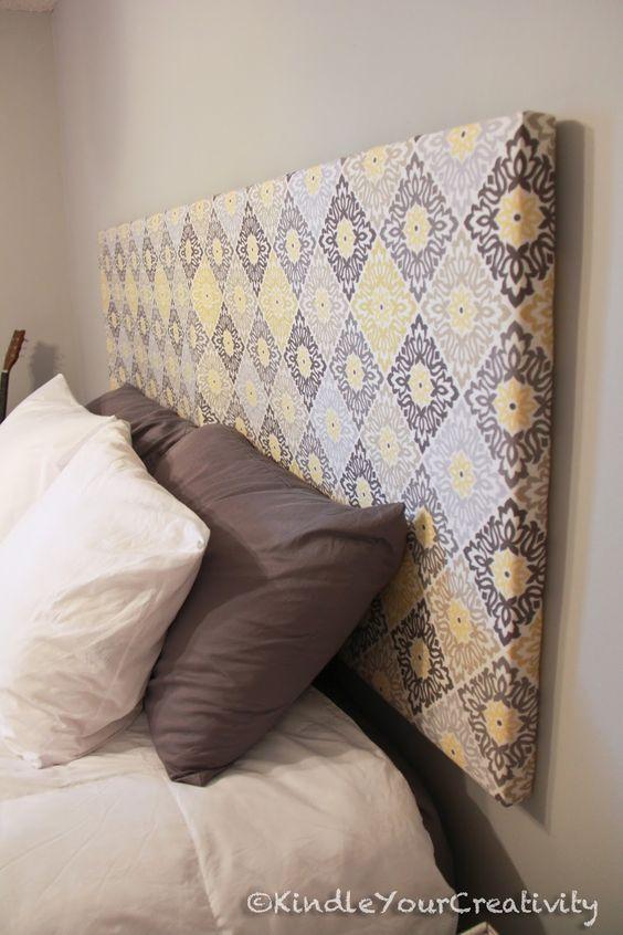 diy cabeceira cama tecido: