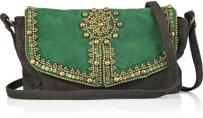 Antik Batik Emily embellished small suede bag