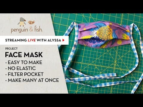 How To Sew An Easy No Elastic Face Mask Fabric Ties Assembly Line Friendly Youtube In 2020 Diy Sewing Pattern Diy Mask Easy Face Masks