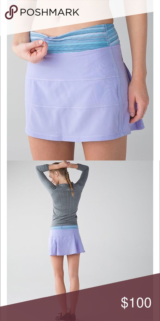 LULULEMON Pace Rival skirt II size 10 TALL Lilac Lilac/Caspian Blue. NWT. No trades. PRICE FIRM. Cheaper on ♏️ercari lululemon athletica Skirts Mini