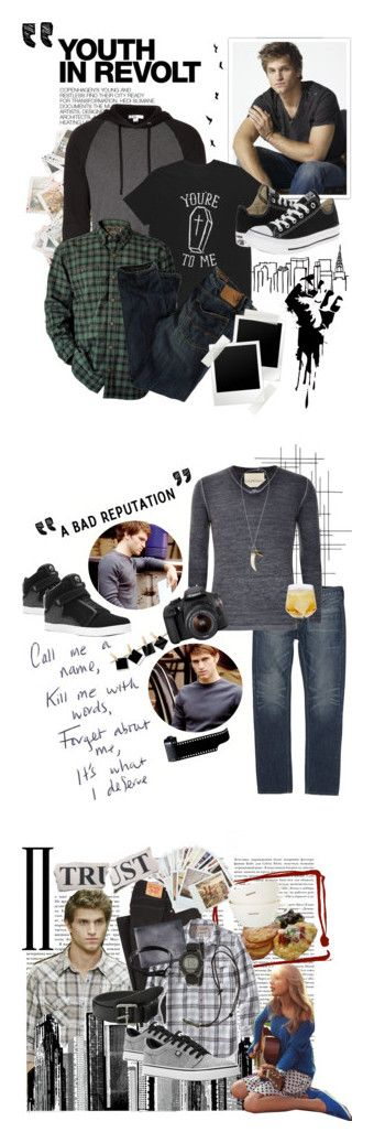 """""""dodge + keegan allen."""" by thepriceofevol ❤ liked on Polyvore featuring Hedi Slimane, James Perse, American Eagle Outfitters, Converse, casual, converse, jamesperse, AmericanEagleOutfitters, KeeganAllen and Crate and Barrel"""