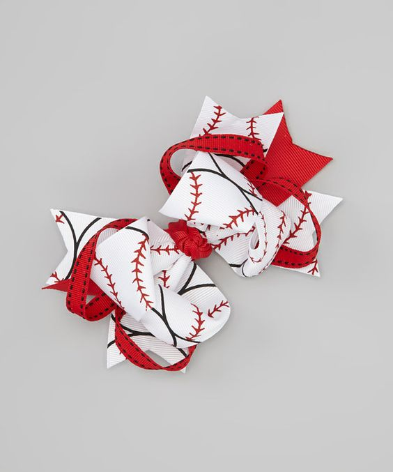 Look what I found on #zulily! Baseball Sweetie Pie Bow Clip by Nantucket Girl #zulilyfinds
