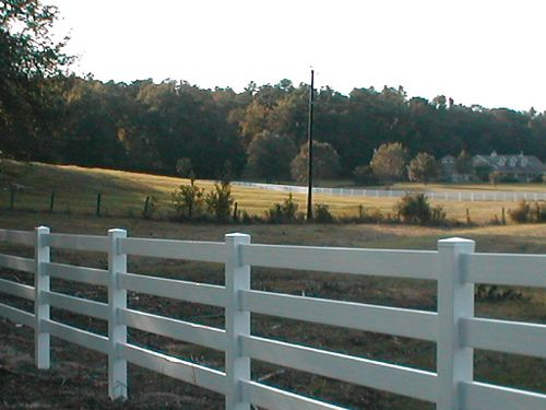 Vinyl Horse Fencing Also Known As Post And Rail Fencing