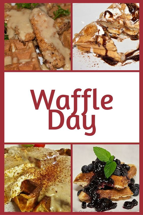 Did you know that March 25 is Waffle Day?  It all started in Sweden as Våffeldagen.  It historically marks the beginning of Spring and is celebrated by eating a lot of waffles!  So in honor of waff…