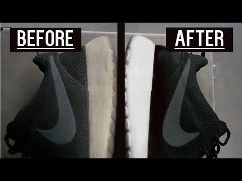 How to Clean Sneakers EASY - Hacks for Keeping Shoes White - YouTube