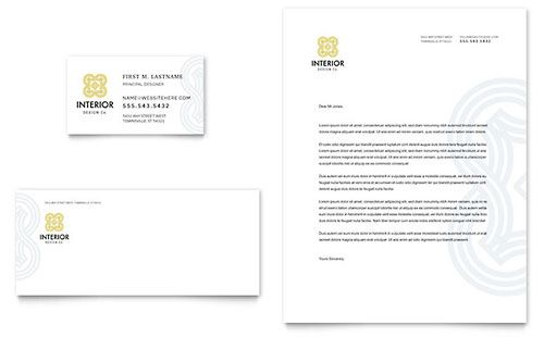 Interior Design Sample Letterhead Template With Images