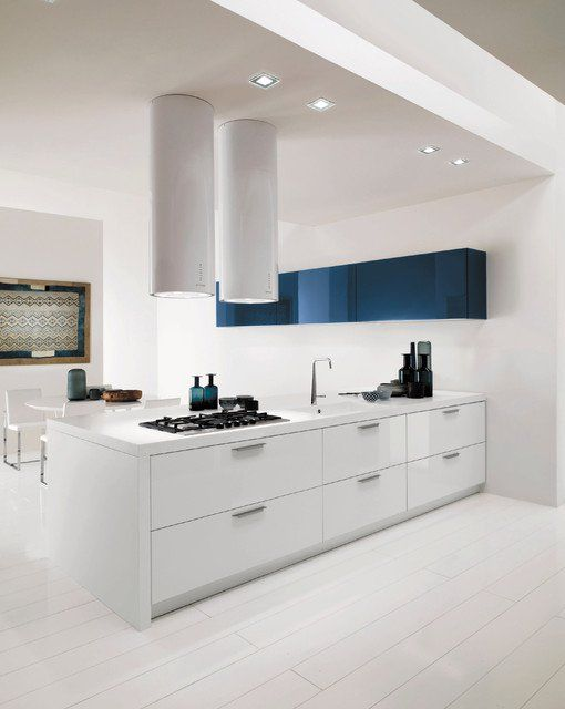 modern kitchen design in white