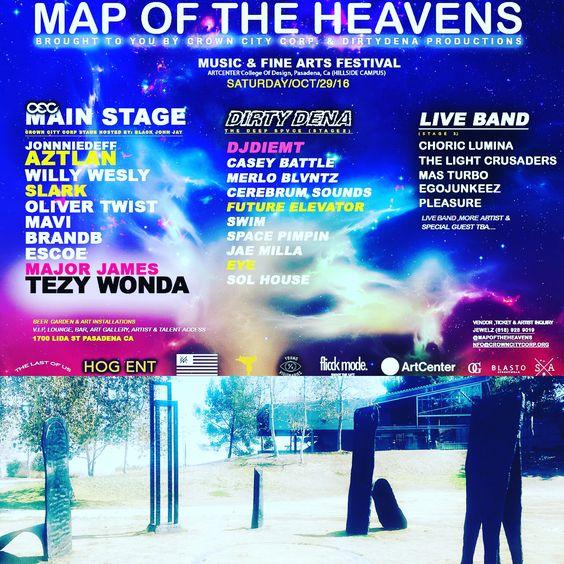 #mapoftheheavensfestival #music & #finearts OCT29 Pasadena ,CA ArtCenter College Of Design #mapoftheheavens #musicfestival #artshow #artinstallation #social #awakening #sound #hiphop #vibrations #edmlife #traplife #fashion #love #gatherings #pasadena #pasadenalife🌹#covina #sgv #socialdesign #liveband #goodmusic4life #universal #timeless