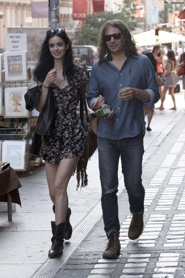 Krysten Ritter and her boyfriend in New York   street ...