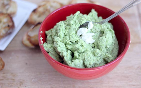 Sweet Pea Feta Parmesan Dip from @Cassie | Bake Your Day