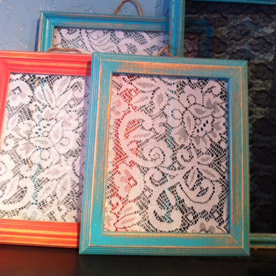 Earring holder: Lace Tablecloths, Tablecloths Turned, Diy Crafts, Display Earrings, Craft Ideas, Lace Tablecloth Diy